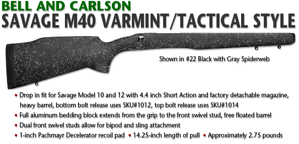Savage M40 Style Varmint/Tactical, Short Action