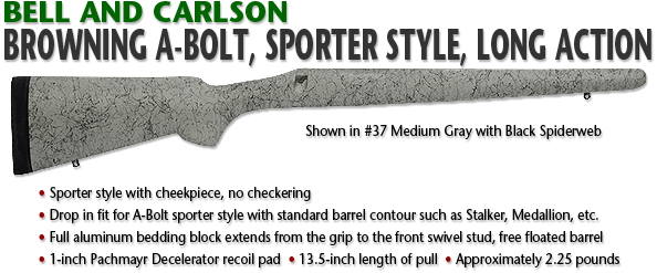 Browning A-Bolt, Sporter Style, Long Action