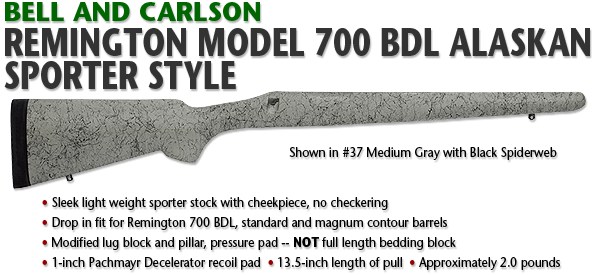 Bell and Carlson Remington 700 BDL Alaskan, Sporter Style