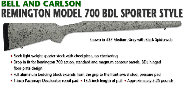 Bell and Carlson Remington 700 BDL Sporter Style