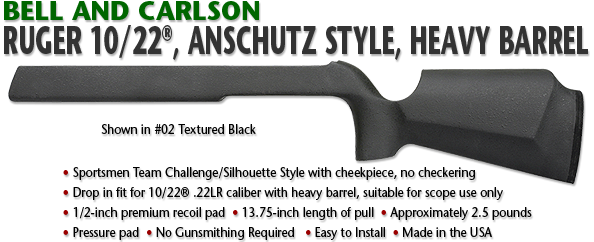 Ruger 10/22, Anschutz Style, Heavy Barrel