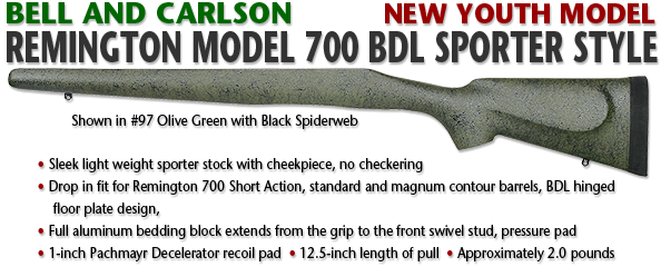 Bell and Carlson Youth Model Remington 700 BDL, Sporter Style