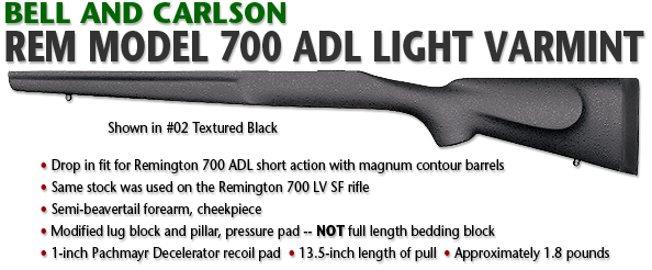 Bell and Carlson Remington 700 ADL Light Varmint