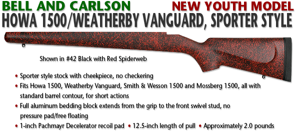Bell and Carlson Howa 1500/Weatherby Vanguard, Sporter Style YOUTH MODEL